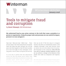 Tools to mitigate fraud and corruption