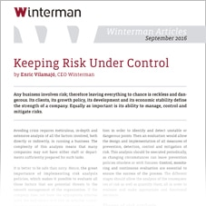 Keeping Risk Under Control